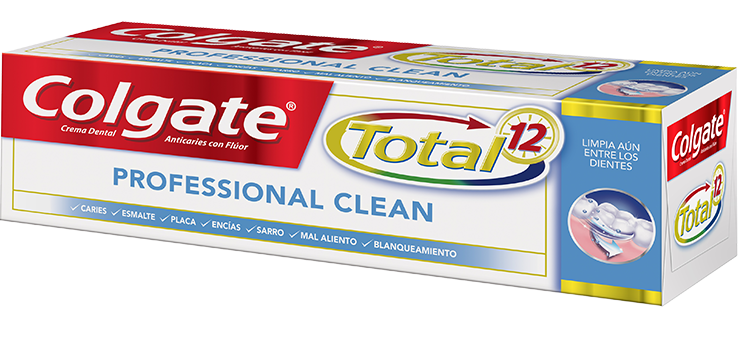 Crema Dental Colgate<sup>&reg;</sup> Total 12 Professional Clean